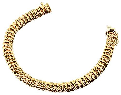 Orleo - REF8783BB : Bracelet Femme Or 18K jaune - Maille américaine 8 mm 19 cm
