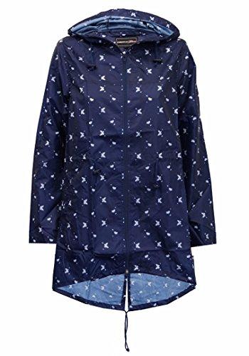 Fast Fashion Frauen Regen Gedruckt Kagoul Mantel Mit Kapuze Fisch Schwanz (Schwänzen Mit Mantel)