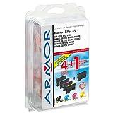 5 x Patronen für Epson T0891 (2xBlack, je 1x C, M, Y) Perfekte Qualität Armor Druckerpatronen kompatibel für T 0891, je 7, 5ml