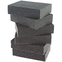 Coral 74300 Essentials Abrasive Sanding Sponge Blocks with Wet or Dry Fine Medium and Coarse Grits 6 Piece Pack Set