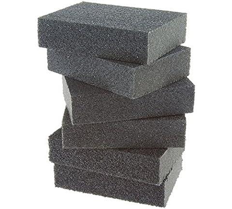 Coral 74300 Essentials Abrasive Sanding Sponge Blocks with Wet or