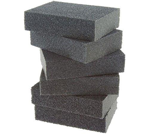 Corail-74300-Essentials-abrasifs-ponge-de-ponage-Bloque-avec-sec-ou-humide-Grain-Fin-Medium-et-pais-Pack-Lot-de-6-pices
