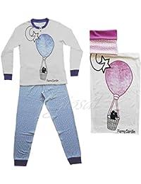 Pijama Mujer Cálido Algodón Manga Larga Impresión globo cuello redondo botones Pierre Cardin GIOSAL