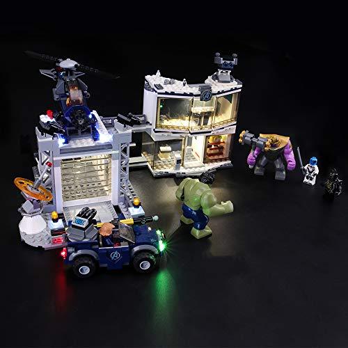 LIGHTAILING Conjunto de Luces (Super Heroes Batalla en el Complejo de los Vengadores) Modelo de Construcción de Bloques - Kit de luz LED Compatible con Lego 76131 (NO Incluido en el Modelo)