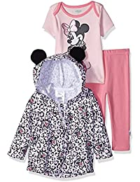 Disney Baby Girls Minnie Mouse 3 Piece Bodysuit OR T-Shirt