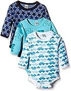Care Baby - Jungen Langarm-Body im 3er Pack, Blau (Dark Navy 778), 12 Monate (Herstellergröße: 80 )