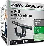 Rameder Komplettsatz, Anhängerkupplung starr + 13pol Elektrik für OPEL Combo Combi/Tour (142758-10001-1)