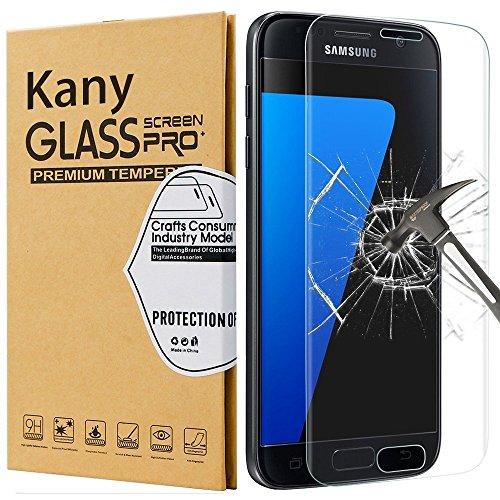 Protector de Pantalla Galaxy S7, Kany Cristal Vidrio Templado [ 9H Dur