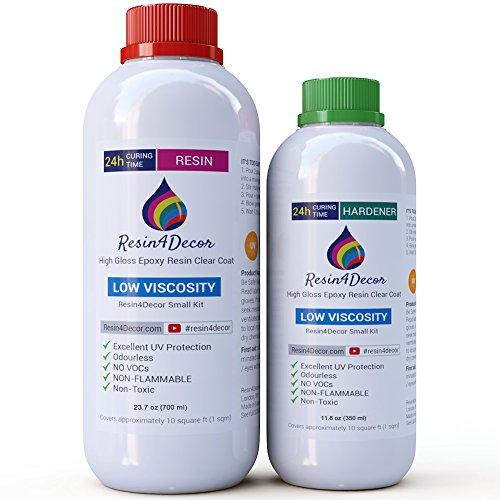 Epoxidharz Resin4Decor Laminierharz Top-Qualität Art Resin Gießharz (1050 ml)