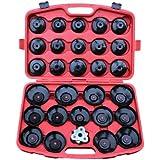 31 tlg. Ölfilterschlüssel Kfz SET zum lösen und festziehen von Ölfilterkartuschen inkl. Koffer