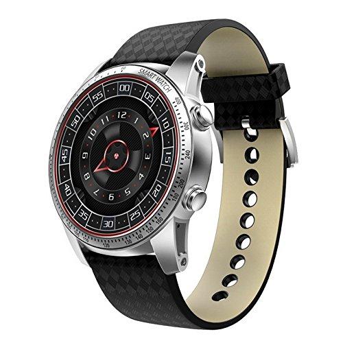 PINCHU Original KW99 Android 5.1 Smart Uhr 3G MTK6580 8 GB Bluetooth SIM WIFI Telefon GPS Pulsmesser Tragbare Ger?te, Silver