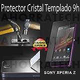 Protector pantalla cristal templado para SONY XPERIA Z, film templado, vidrio templado ULTRA RESISTENTE y GRAN CALIDAD de AHORRATECH®