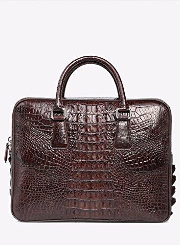 lpkone-Motif Crocodile sac homme sacs ordinateur sacs affaires loisirs luxe porte-documents Brown