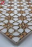1 Matte Wandfliesen Fliesen Keramik Glänzend Glasiert 30x30 8mm Weiß Gold neu