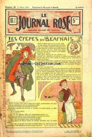 JOURNAL ROSE (LE) [No 42] du 01/02/1913