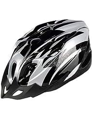 Casco da Ciclista Casco da Casco Casco da Equitazione Bicicletta da Montagna Accessori da Esterno per Biciclette Unisex,Silver