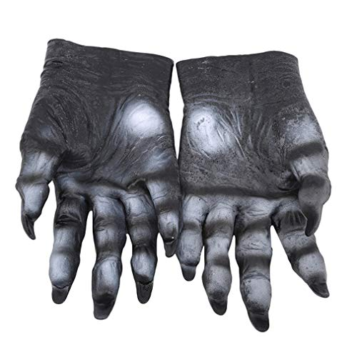 SHIJIAN Zombie Handschuhe Kleber Adult Long Muskeln Bloodsplatters Print Arm Halloween Dance Kostüm Party Requisiten, - Armee Tanzkostüm