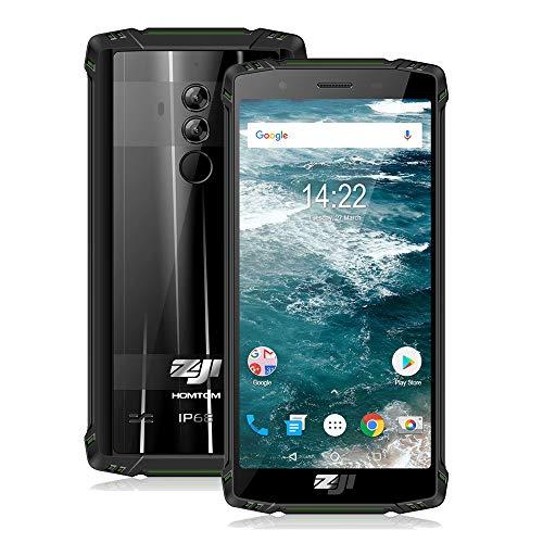 Preisvergleich Produktbild HOMTOM Outdoor Handy ZOJI Z9 IP68 Wasserdicht Robust Mobiltelefon 6 GB 64 GB Puls Helio P23 Android 8.1 5, 7 Zoll 5500 mAh Gesichts-ID Fingerabdruck 4G-LTE Smartphone.