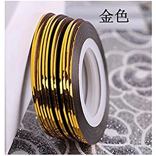 RICISUNG Zierstreifen Striping Tape Streifen Nail Art Stripes Stripe Sticker 10pcs Gold