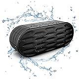 ITgut 10W Wasserdicht IPX5 Tragbare Wireless Bluetooth Lautsprecher, Outdoor Sport und Dutsche mit Eingebaute Mikrofon: Spritzwassergeschützte, ideal für Freizeit, Sport und Zuhause (Schwarz)