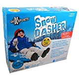 Snow Dasher 38-inch Inflatable Winter Sledding Snow Tube - Assorted Colors by GLX Sports
