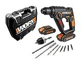 WX390.1 Worx - H3®Taladro/cacciavite / martello 2 batterie 20V - 2,0Ah Li-Ion.