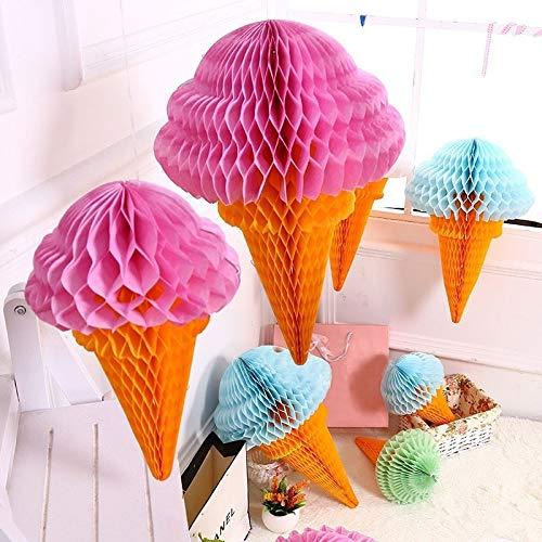 3 stücke Eis Form Seidenpapier Hängen Wabenbälle Laternen Poms Hochzeit Geburtstag Dekoration Papier Bälle