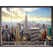 Sfondo Fotografico New York 396 x 280 cm Lana Sfondo Salotto Camera da letto Ufficio Corridoio Decorazione Murali Decorazione da muro moderna - 100% FATTI IN GERMANIA - 9026012a