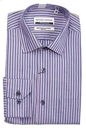 Peter England Men's Regular Fit Cotton Formal Shirt (PSF51402944-F_Blue_40)