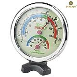 Waterproof SunGrow Boro Analog Dual Thermometer