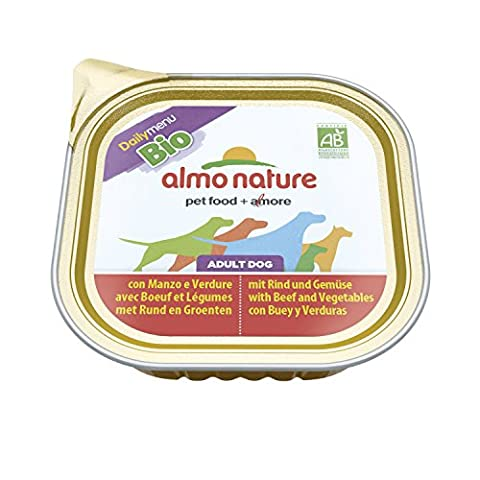 ALMO NATURE DAILY MENU BIO ADULT DOG BEEF AND VEGETABLES 300 G