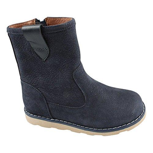 EN FANT Boots Elastic, Bottes mi-hauteur non doublées garçon Bleu - Blau (Navy 04)