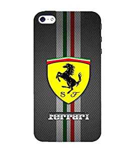 For Apple iPhone 4S yellow icon, black horse, horse, icon Designer Printed High Quality Smooth Matte Protective Mobile Case Back Pouch Cover by APEX ELEGANT