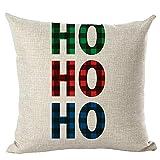 HUYURI Kissen Dekoration Frohe Weihnachten Kissenbezüge Leinen Sofa Kissenbezug Home Decor Kissenkern