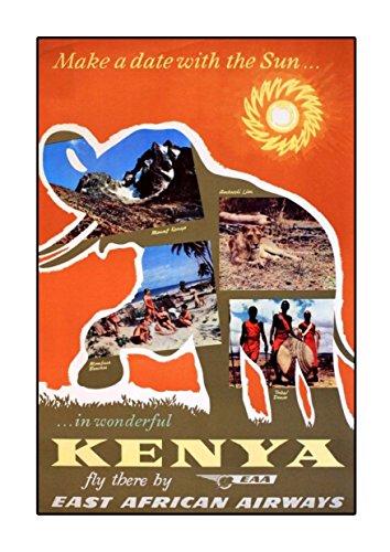 East African Airways Kenia A4 Poster, Vintage, Foto, Old Airways, Airways Foto, Grafikbild, Bild, Airline, Reisen, Schwarz und Weiß, Foto, Old, Retro, Druck, Oldschool (Fotos African)