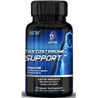 Testosterone Support Booster for Men-Increased Muscle Mass-Assists With Body building