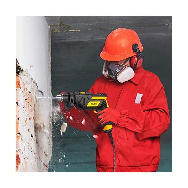 URCERI Taladro Percutor 710W, 3000RPM, 1/2 pulgada Potente taladro con perilla giratoria de 360 °, 13 mm Diámetro de perforación,Función 2 en 1, Sistema de enfriamiento