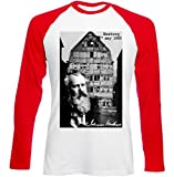 Photo de Teesquare1st Men's JOHANNES BRAHMS GERMAN COMPOSER Red Long Sleeved T-shirt par TEESQUARE1st