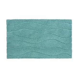 Schöner Wohnen Badteppich Badematte Santorin Wellen Mintgrün in 3 Größen