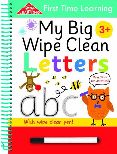 First Time Learning Wipe Clean-Letters