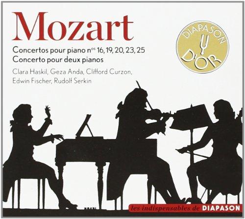 Mozart : Concertos pour piano. Haskil, Anda, Serkin.