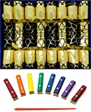 Crackers Musical Craquelins with Mini Xylophones - Black Flock and Gold Craquelins (Cat F1)