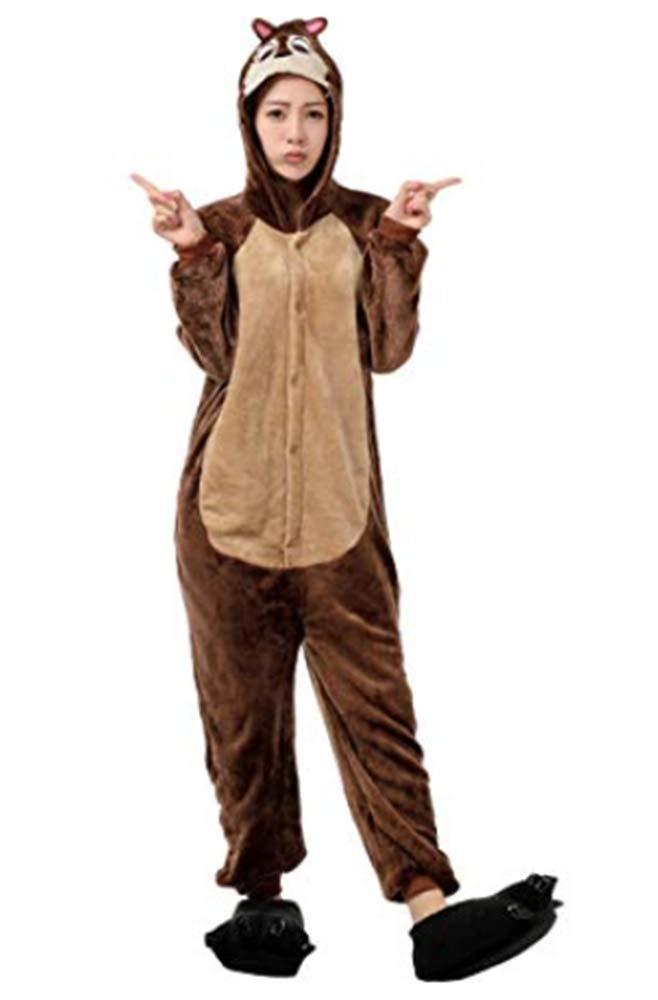 Unisexo Comodidad Suave Franela Disfrace Animales Kigurumi Traje de Dormir Cosplay Ropa de Salón Pijamas Adulto Animal para Niños Niñas Anime Fiesta