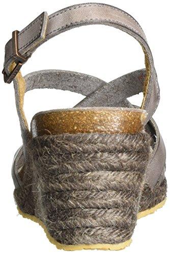 Fred De La Bretonnière Fred de la Bretoniere Sandale, Sandales Compensées femme Taupe