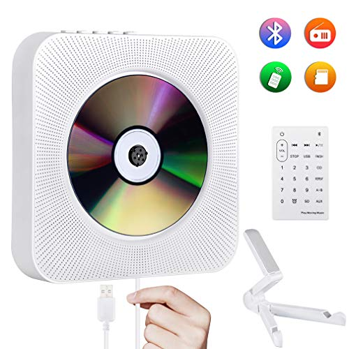 Reproductor de CD Portátil Gueray Montado en la Pared Bluetooth Altavoces HiFi...