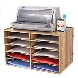 GaoJinZhuan Hölzernes mehrlagiges Datei-Rack A4-Papier Bürobedarf Finishing-Lagerregal-Ordner Student Desktop Rack (Farbe : Kirschholz)