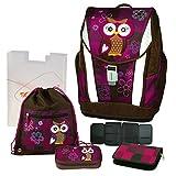 Olivia the Owl Eule Schulranzen Set 5tlg. TOOLBAG SOFT Schneiders mit passender FEDERMAPPE UNGEFÜLLT- 78405-051