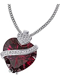 Goldmaid Women's 925 Sterling Silver Cubic Zirconia Heart Necklace