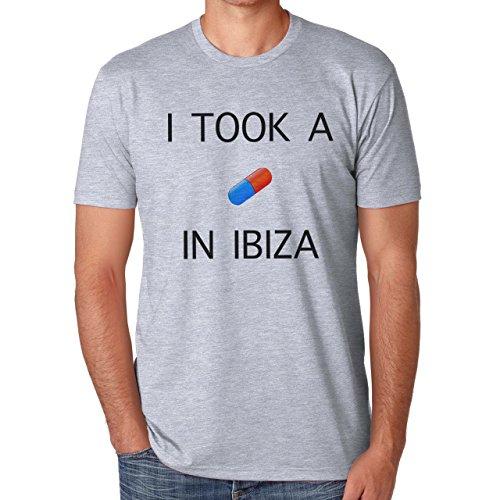 I Took A Pill In Ibiza Herren T-Shirt Grau