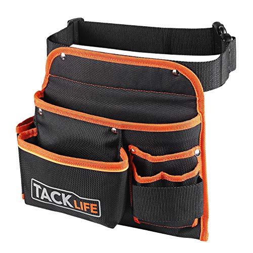 TACKLIFE PTB01 Ceinture porte outils, ceinture ajustable, Imperméable, pour bricoleurs, grande...